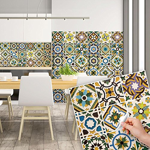 Awesome piastrelle colorate per cucina gallery home for Mattonelle adesive per cucina